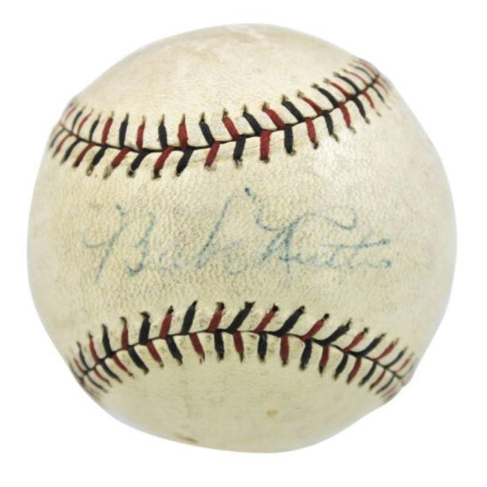 YANKEES BABE RUTH AUTHENTIC SIGNED OFFICIAL LEAGUE BASEBALL JSA #Z60342